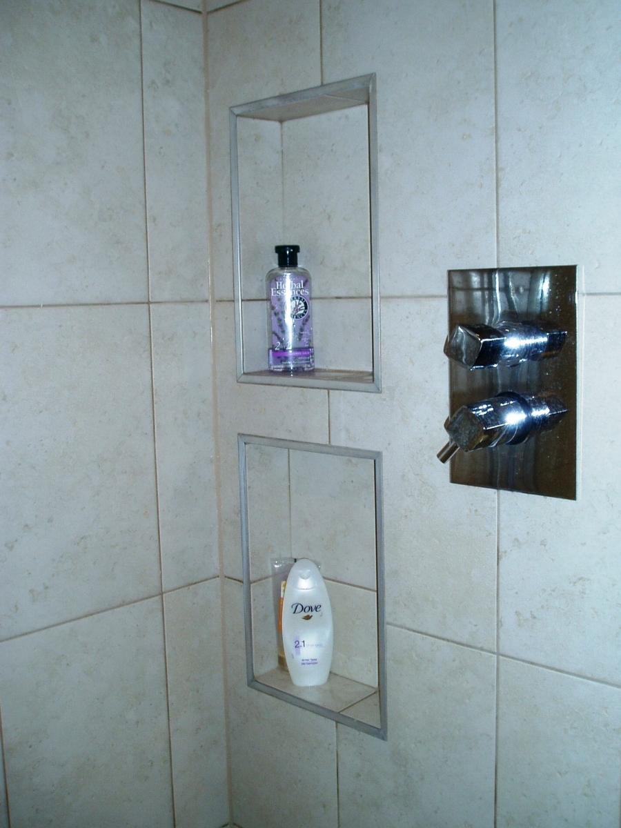 Bathroom storage ideas - recessed shower caddy - Kitchen And ...